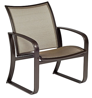 Woodard Cayman Isle Flex Patio Chair w/ Cushions; Garnet Flex Sling