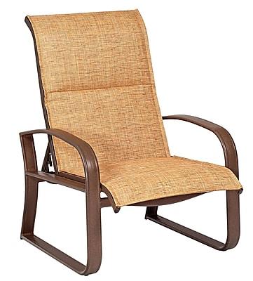Woodard Cayman Isle Padded Sling Adjustable Patio Chair; Elegance