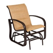 Woodard Cayman Isle Padded Sling Glider Chair; Elegance