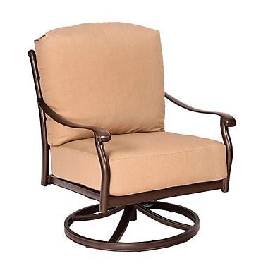 Woodard Casa Swivel Rocking Patio Chair w/ Cushions; Fairmount