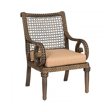 Woodard South Shore Patio Dining Chair w/ Cushion; Canvas Iris