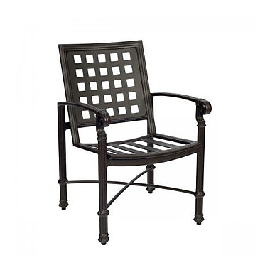 Woodard Spartan Patio Dining Chair w/ Cushion; Canvas Palm