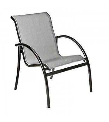 Woodard Tribeca Stacking Patio Dining Chair; Garnet Flex Sling