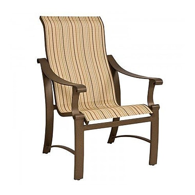 Woodard Bungalow Sling High-Back Patio Dining Chair; Platinum