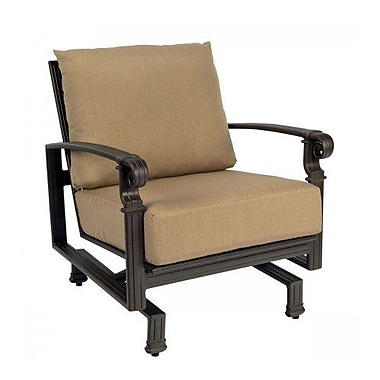 Woodard Spartan Spring Patio Chair w/ Cushions; Canvas Navy