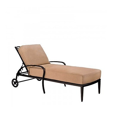 Woodard Apollo Chaise Lounge w/ Cushion; Summit Spark
