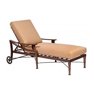 Woodard Arkadia Adjustable Chaise Lounge w/ Cushion; Canvas Dusk