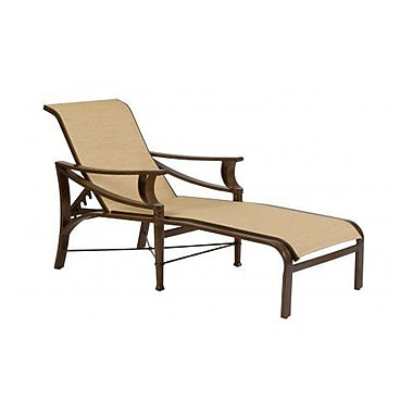 Woodard Arkadia Sling Adjustable Chaise Lounge; Caramel