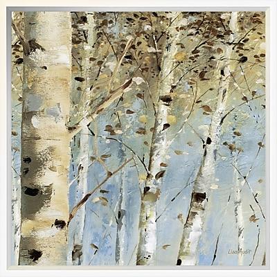 East Urban Home 'White Forest IV' Framed Print; 18'' H x 18'' W