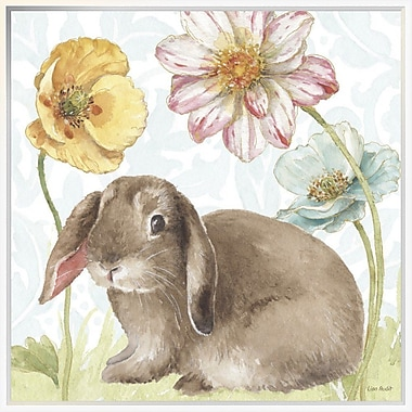 East Urban Home 'Spring Softies Bunnies III' Framed Print; 30'' H x 30'' W