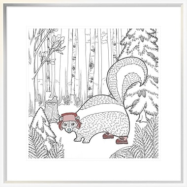 East Urban Home 'Color the Forest Color X' Framed Graphic Art Print; 18'' H x 18'' W