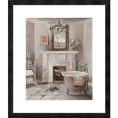 East Urban Home 'French Bath IV Gray and Blush' Framed Print; 20'' H x 16'' W
