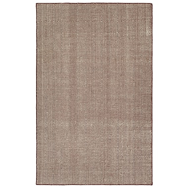 Ivy Bronx Buell Hand Woven Burgundy Indoor/Outdoor Area Rug; 2' x 3'