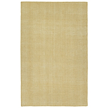 Ivy Bronx Buell Hand Woven Gold Indoor/Outdoor Area Rug; 2' x 3'