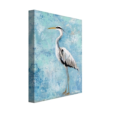 Highland Dunes 'Heron II' Acrylic Painting Print on Gallery Wrapped Canvas; 28'' H x 22'' W
