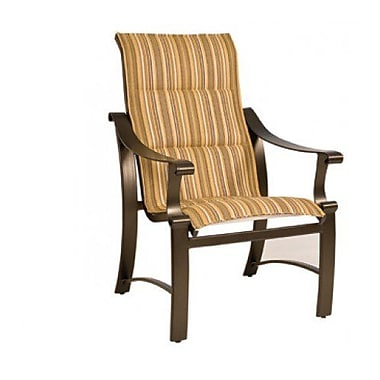 Woodard Bungalow Padded Sling High-Back Patio Dining Chair; Augustine Frost