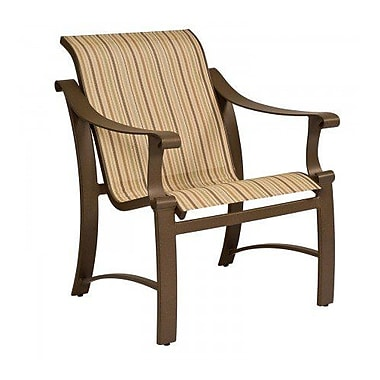 Woodard Bungalow Sling Patio Dining Chair; Augustine Alloy