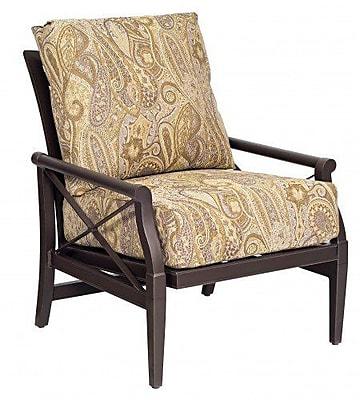 Woodard Andover Rocking Patio Chair w/ Cushions; Fairmount
