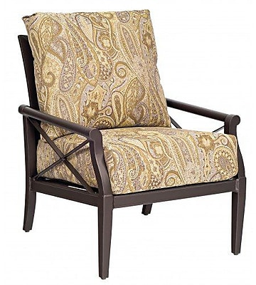 Woodard Andover Stationary Patio Chair w/ Cushions; Canvas Dusk