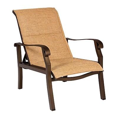 Woodard Cortland Padded Sling Adjustable Patio Chair; Augustine Nutmeg