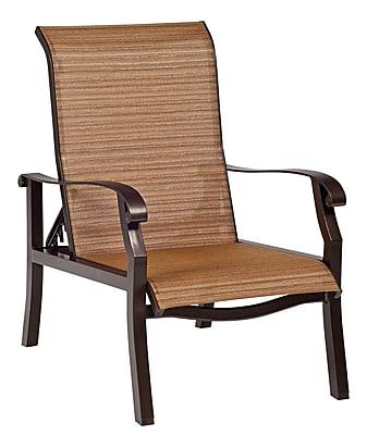 Woodard Cortland Sling Adjustable Patio Chair; Charcoal Flex Sling