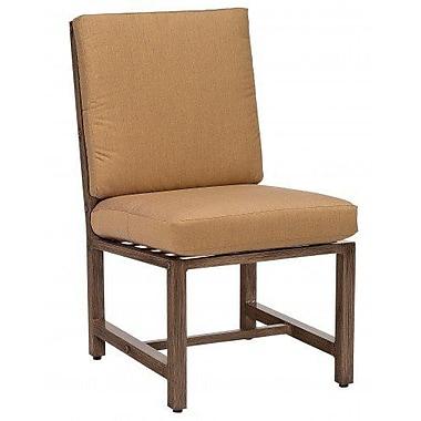 Woodard Woodlands Patio Dining Chair w/ Cushion; Bazaar Caf