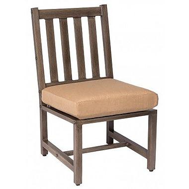 Woodard Woodlands Patio Dining Chair w/ Cushion; Paris Blush