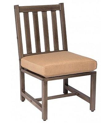 Woodard Woodlands Patio Dining Chair w/ Cushion; Summit Peony