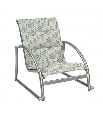 Woodard Tribeca Padded Stacking Patio Dining Chair; Augustine Nutmeg