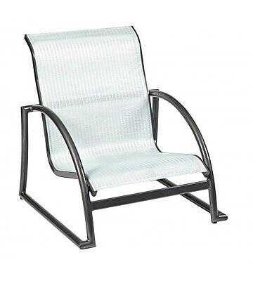 Woodard Tribeca Stacking Patio Dining Chair; Platinum