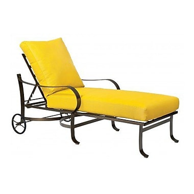 Woodard Cascade Adjustable Chaise Lounge w/ Cushion; Bazaar Caf