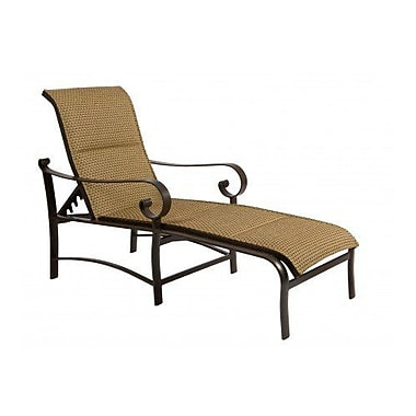 Woodard Belden Padded Sling Adjustable Chaise Lounge; Augustine Pear