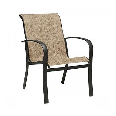 Woodard Fremont Sling Stacking Patio Dining Chair; Sailing Salt