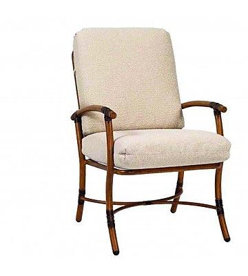 Woodard Glade Isle Patio Dining Chair w/ Cushion; Brisa Distressed Dove Gray