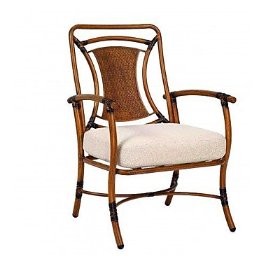 Woodard Glade Isle Formal Patio Dining Chair w/ Cushion; Summit Spark