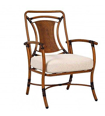 Woodard Glade Isle Formal Patio Dining Chair w/ Cushion; Bazaar Caf