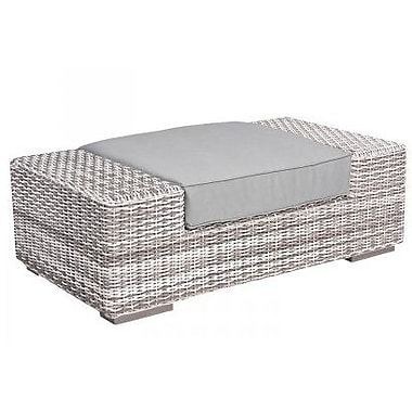 Woodard Imprint Ottoman w/ Cushion; Summit Spark