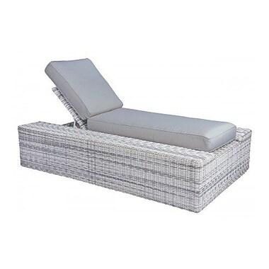 Woodard Imprint Chaise Lounge w/ Cushion; Bevel Indigo