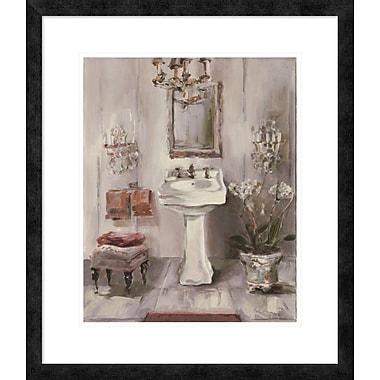 East Urban Home 'French Bath III Gray and Blush' Framed Print; 20'' H x 16'' W