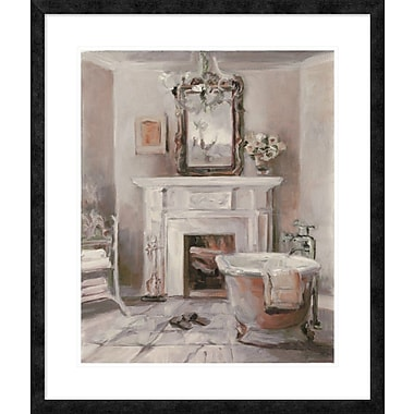 East Urban Home 'French Bath IV Gray and Blush' Framed Print; 28'' H x 22'' W