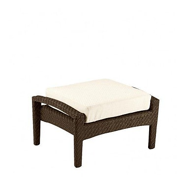 Woodard Trinidad Ottoman w/ Cushion; Canvas Dusk