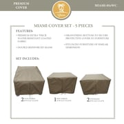 TK Classics Miami 5 Piece Chair Cover Set