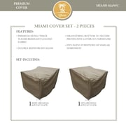 TK Classics Miami 2 Piece Chair Cover Set