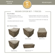 TK Classics Miami 7 Piece Chair Cover Set