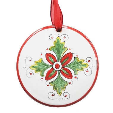 The Holiday Aisle Hand Formed and Painted Ceramic Christmas Hanging Shaped Ornament