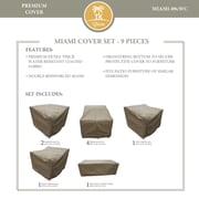 TK Classics Miami 9 Piece Chair Cover Set
