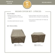 TK Classics Miami 3 Piece Chair Cover Set
