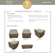 TK Classics Miami 6 Piece Chair Cover Set