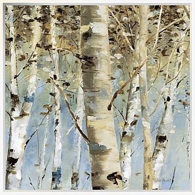 East Urban Home 'White Forest III' Framed Print; 30'' H x 30'' W