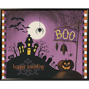 East Urban Home 'Happy Haunting Boo' Framed Graphic Art Print; 28'' H x 35'' W